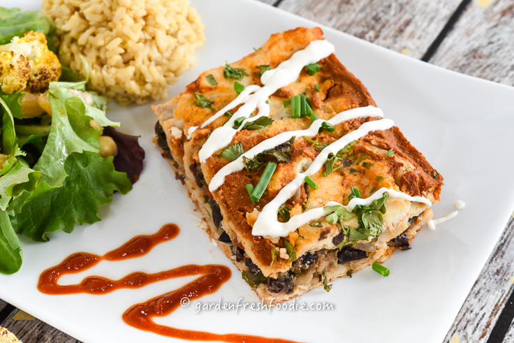 Slice of Black Bean Enchiladas