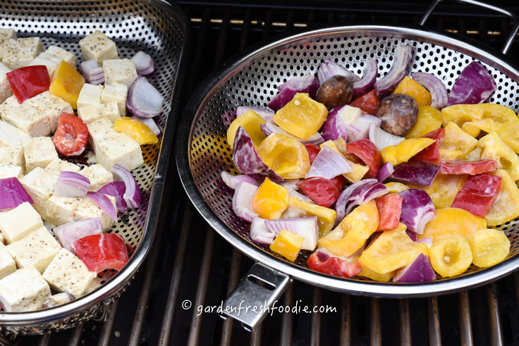 Grilling Miso Marinated Veggies & Tofu
