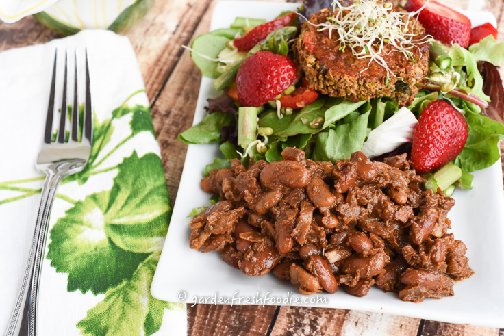 Molasses Baked Beans and Salad