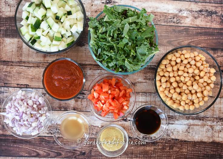 Saucy Chickpeas Mise En Place