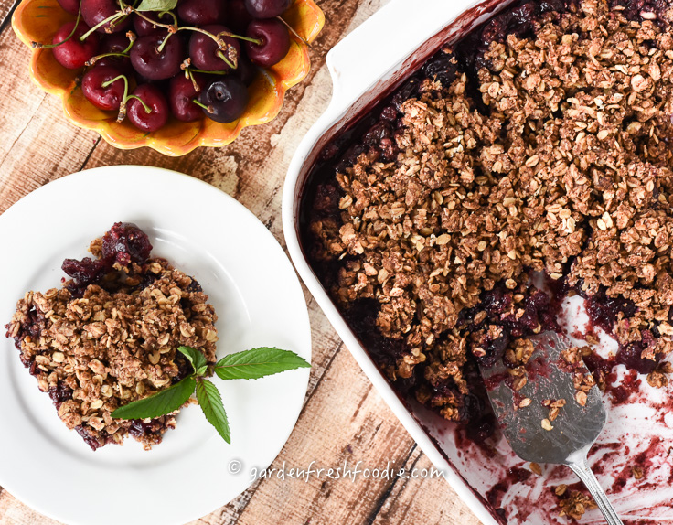 Cherry Cobbler With Almond Oat Topping