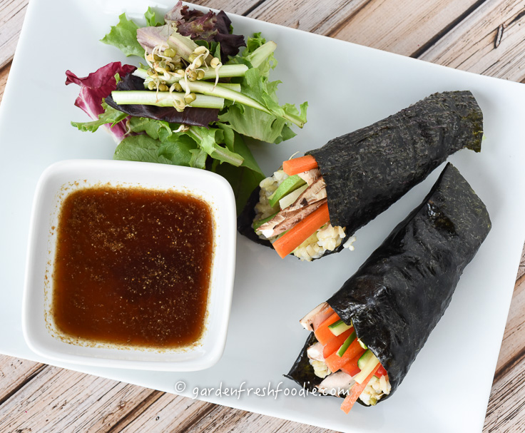 Summer Veggie Hand Rolls For Lunch