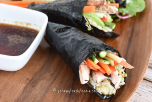 Summer Veggie Hand Rolls With Wasabi Soy Sauce