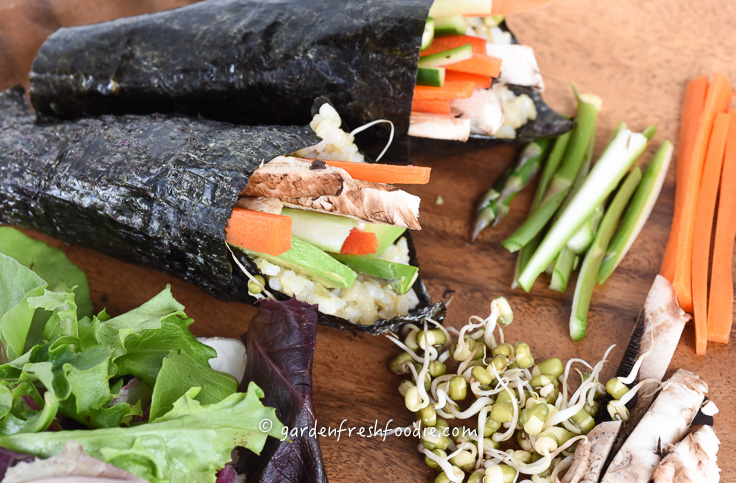 Wrapped Summer Veggie Hand Rolls