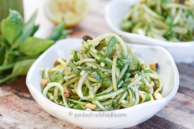 Zoodles With Nut Free Pesto