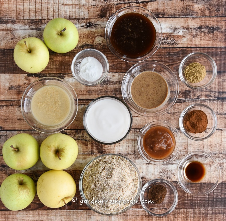 Plant-Based Apple Spice Cake Mise En Place