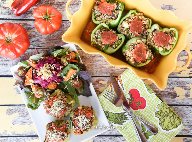 Summer Stuffed Peppers and Salad