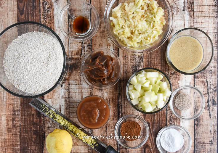 Apple Oat Muffin Mise En Place