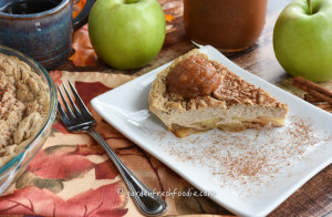 Apple Pancake Topped With Garden Fresh Applesauce