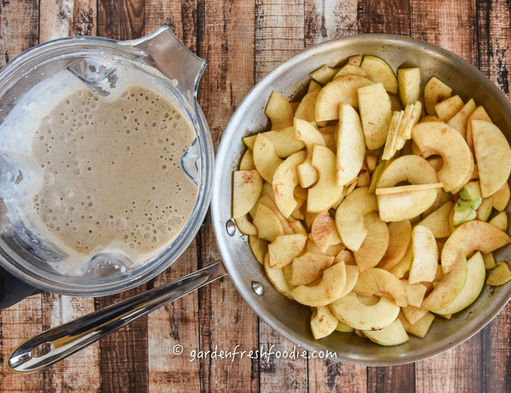 Batter and Sauteed Apple Base For Apple Pancake