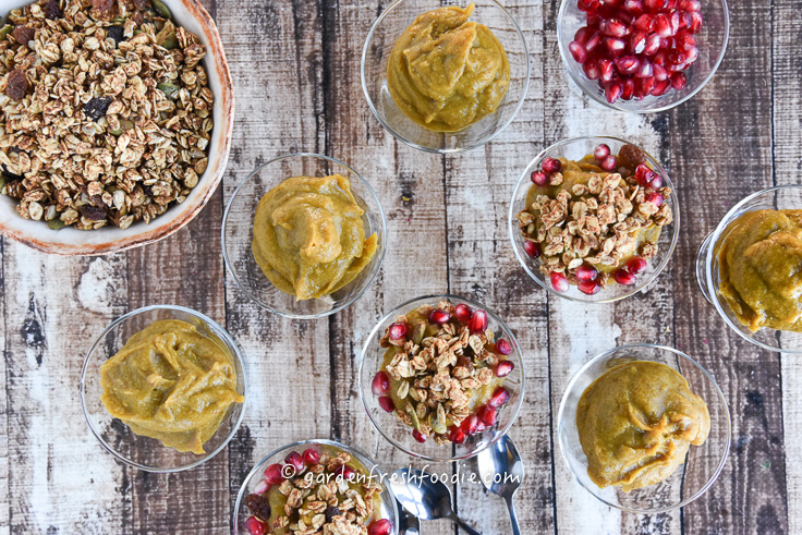 Pumpkin Pudding and Tahini Ginger Granola
