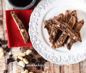 Chocolate Macadamia Nut Biscotti