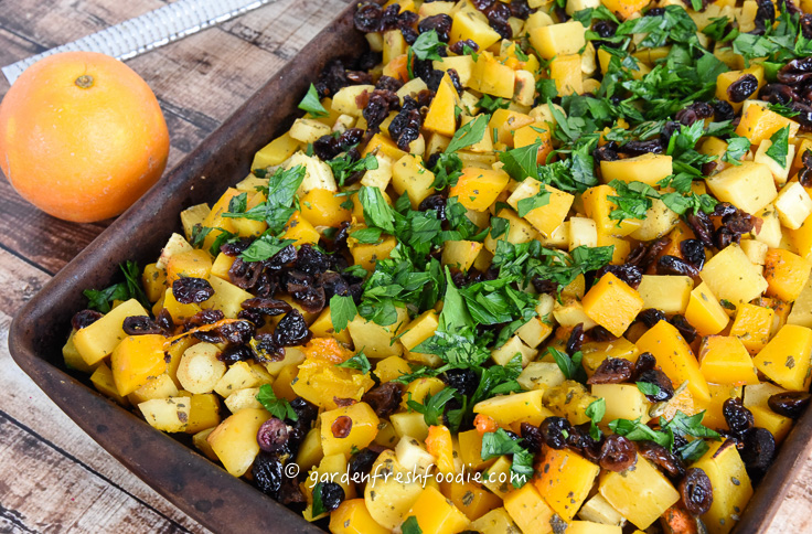 Sage Roasted Winter Veggies With Fresh Parsley