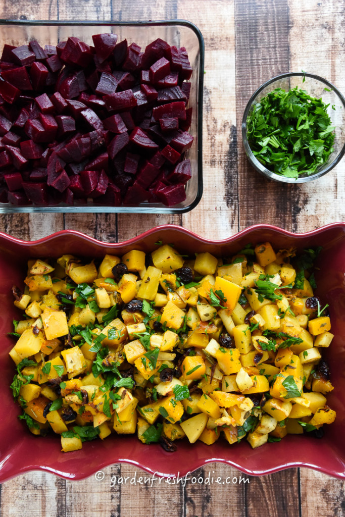 Sage Roasted Winter Veggies and Roasted Beets