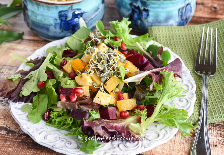 Salad With Roasted Winter Veggies