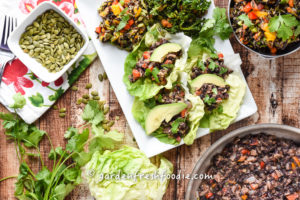 Black Bean Tacos In Lettuce Wraps