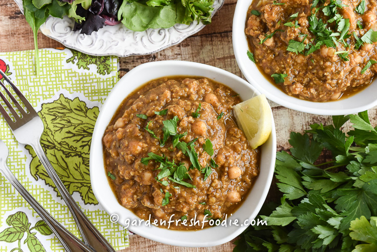 Bowl of Chana Masala Lentils With Millet