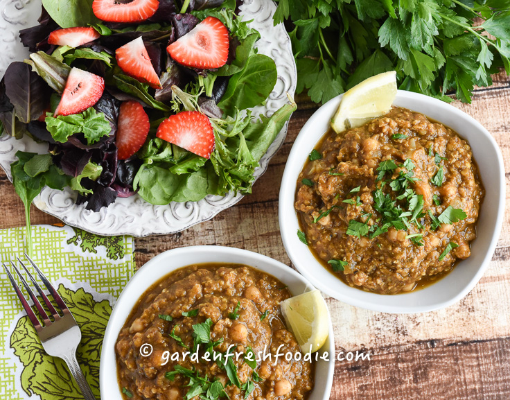 Bowls of Chana Masala Lentils With Millet