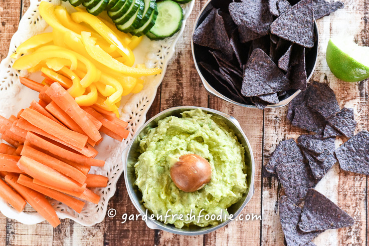 Holy Guacamole With Fresh Veggies and Chips