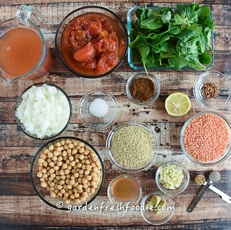Mise En Place Chana Masala Lentils With Millet