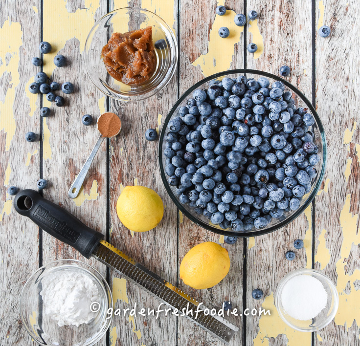 Healthy Blueberry Pie Filling