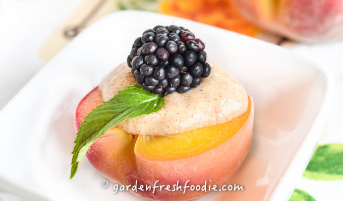 Cider Poached Peaches
