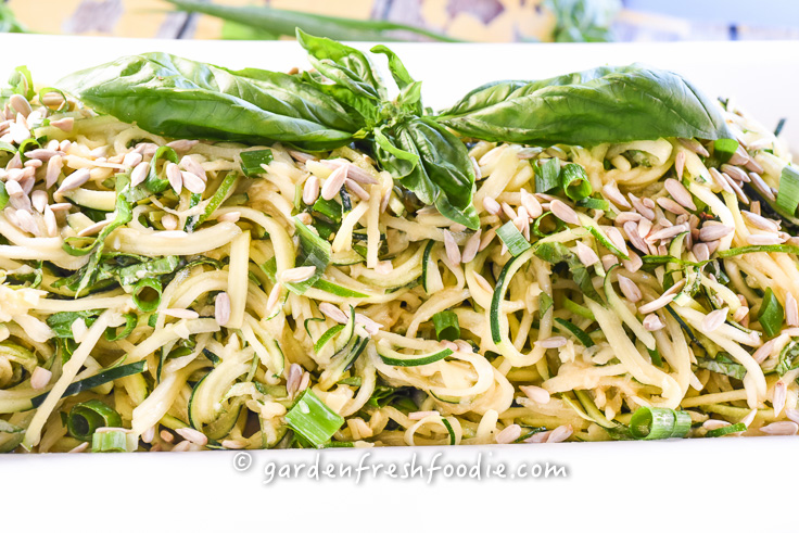 Tahini Zoodles With Fresh Basil