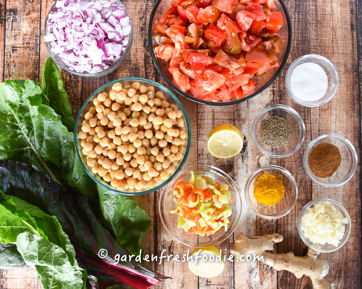 Mise En Place Chickpea Curry