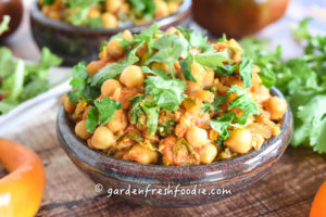 Oil Free Chickpea Curry
