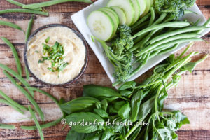 White Bean Dip Artichoke With Garden Veggies