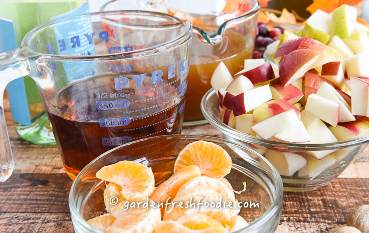 Apple Cider Sangria Mise En Place