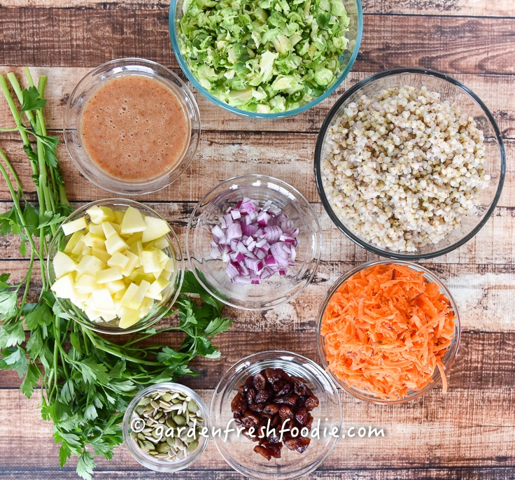 Harvest Buckwheat Salad Mise En Place