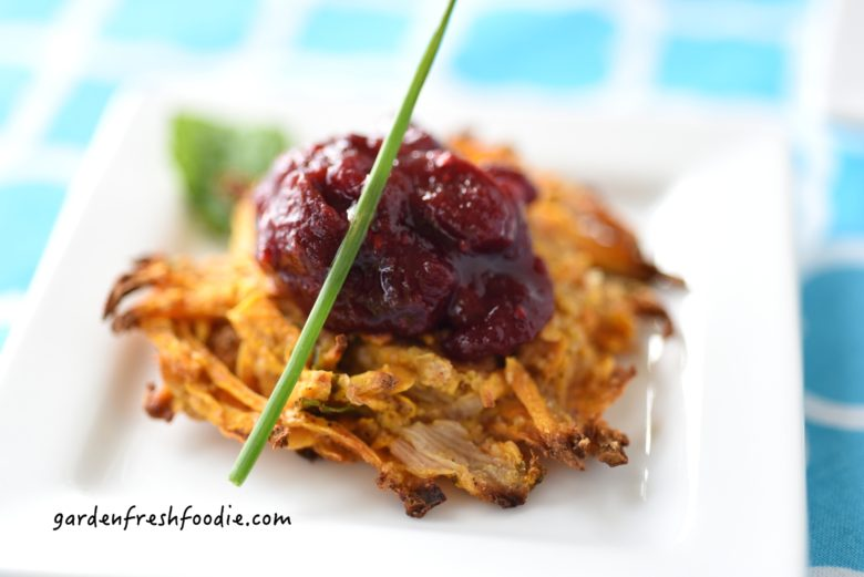 Indian Spiced Sweet Potato Latke Appetizer