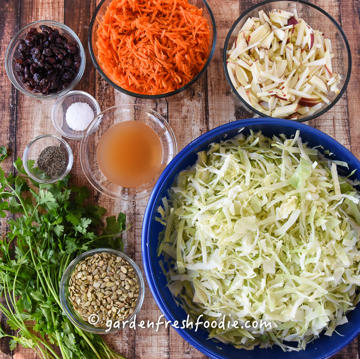 Apple Slaw Mise En Place