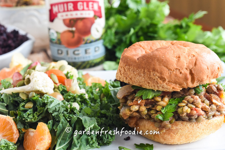 Lentil Sloppy Joe's Sandwich